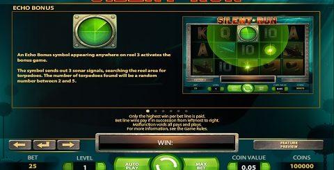 Slot machine silent run